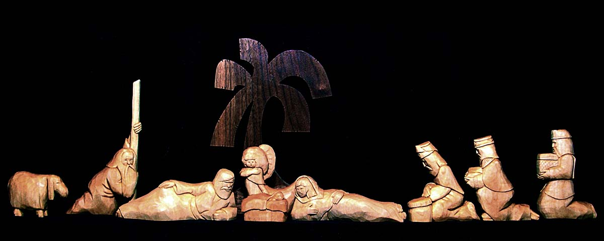 Nativity carvings
